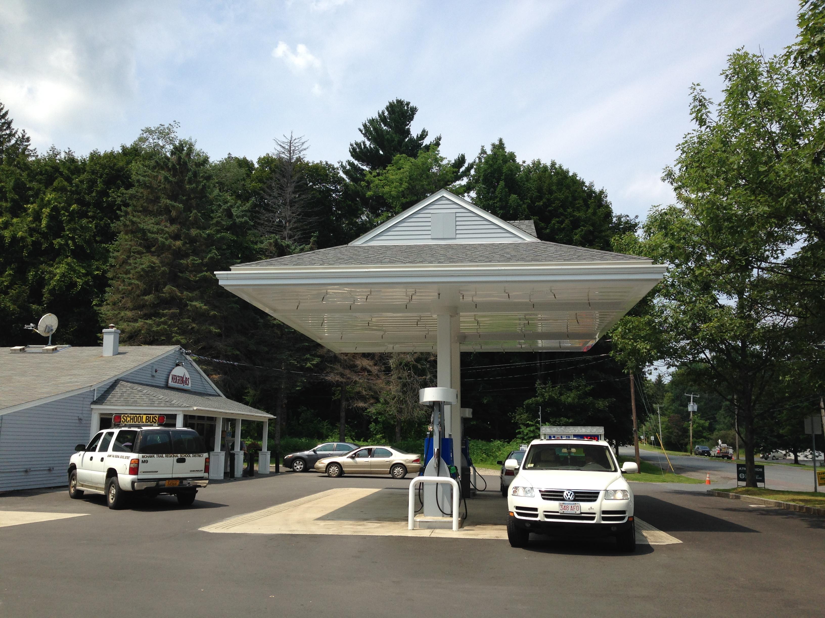 Ashfield Canopy Mobil Gas Station